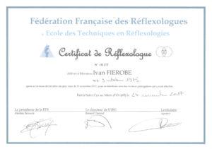 Diplôme Réflexologue-Paris Ivan FIEROBE